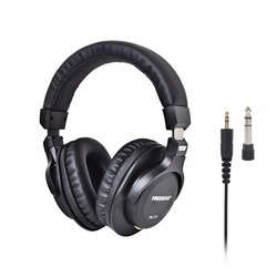 Freeboss FB-777 Over-ear Closed Style 45mm Drivers Single-side Detachable cable 3.5mm Plug 6.35mm Adapter Monitor Headphones