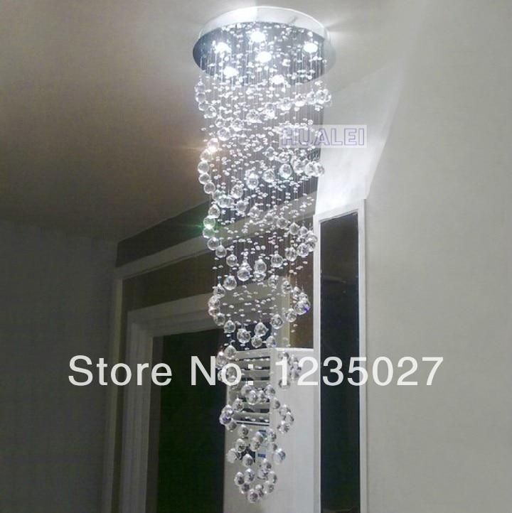 Crystal Chandelier Ceiling Lamp long design double spiral Crystal Kronleuchter Ceiling Light Crystal Ceiling LightingSY3054 4L