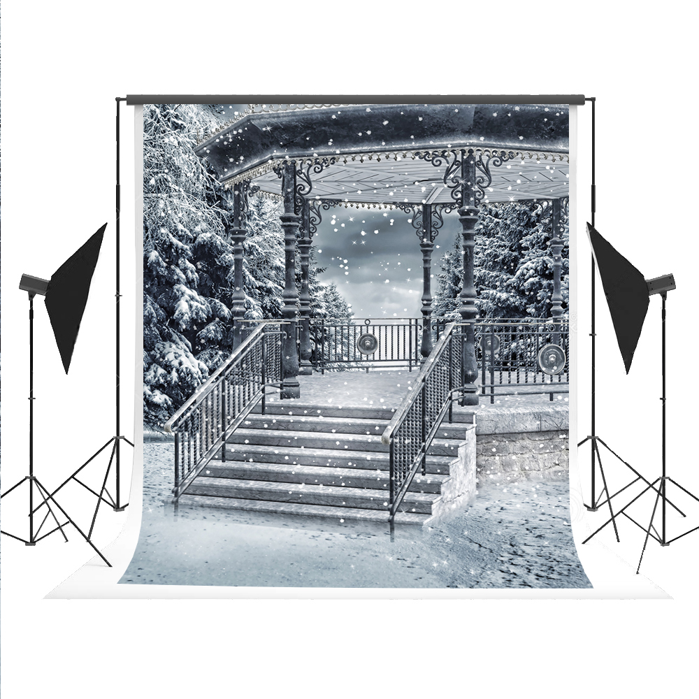 Kate 5x7 Backdrop Paper for Photography Cotton Collapsible Photo Backdrops Snow Scenery White Photographic Backgrounds for Photo
