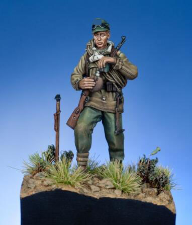 1/35 Resin Figures German Mountain Soldier With Base 1 Set