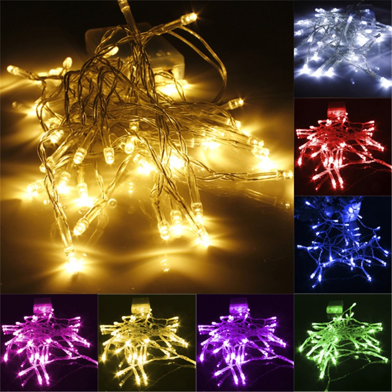 Smuxi 1M 10 LED Fairy Light Battery Powered LED Christmas Light Copper Wire String Light For Wedding Garland Party