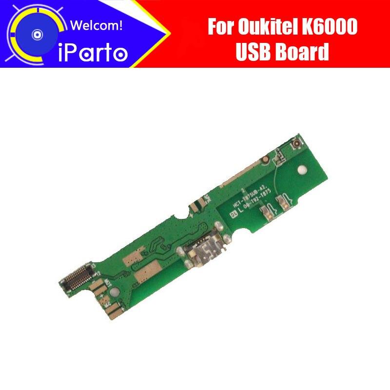5.5 Oukitel K6000 Carte USB 100% D'origine Nouvelle Carte USB Charge Assemblée de Remplacement Réparation Accessoires pour K6000.