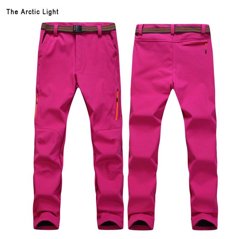 Skiing Hiking Trousers Snow Ski Pants Waterproof Windproof For Men Polar Fleece