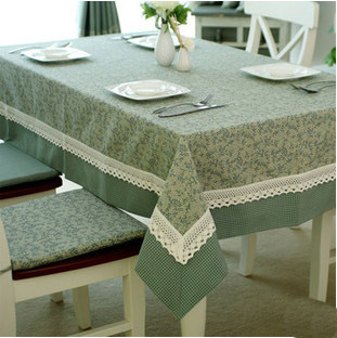 High Quality Europe Leaves Plaid Patchwork Tablecloth Grid Table