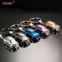 High End Car Model Keychain Led Light Auto Keyring Key Pendant For Subaru Mercedes BENZ Cadillac