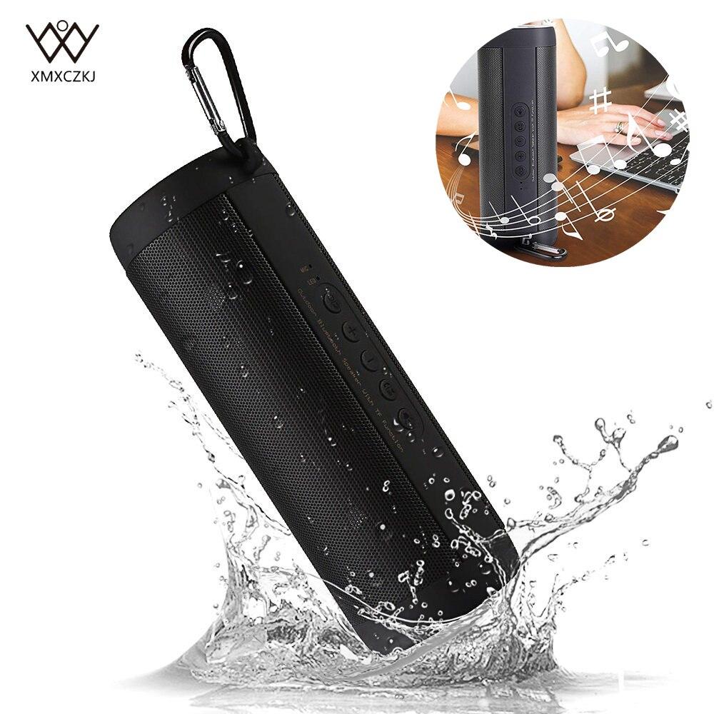 Bluetooth Bass Speaker Waterproof Wireless Column Box Outdoor LED Music Loudspeaker FM Radio TF Card Audex Input for Bike Riding