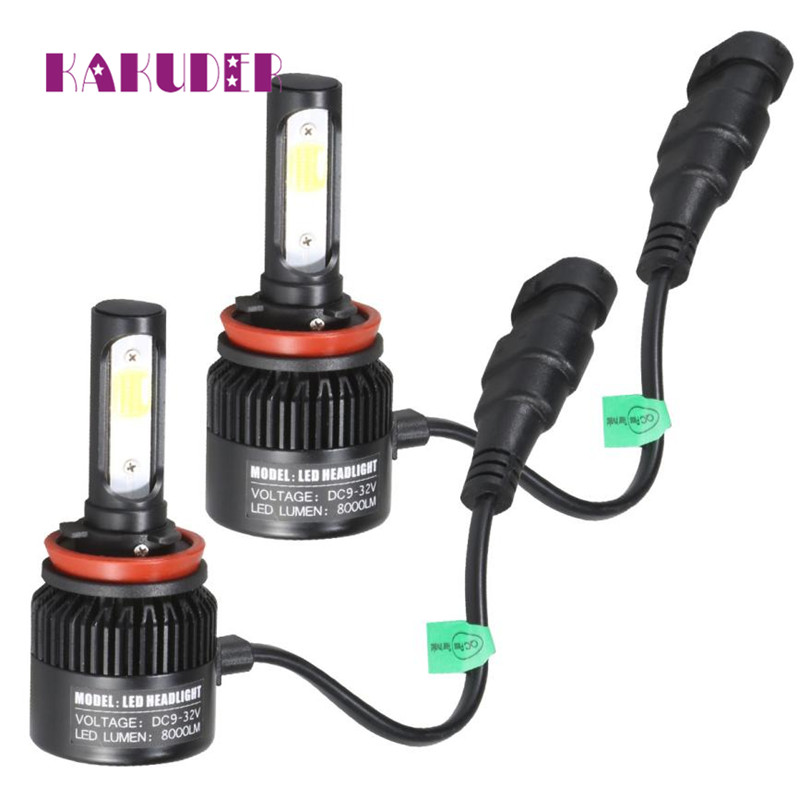 2017 NEW Headlight Conversion H11 110W 16000LM LED  Kit Car Beam Bulb Driving Lamp 6000K quality fashion car styling oct9 pretty h7 110w 20000lm led headlight conversion kit car beam bulb driving lamp 6000k fe15