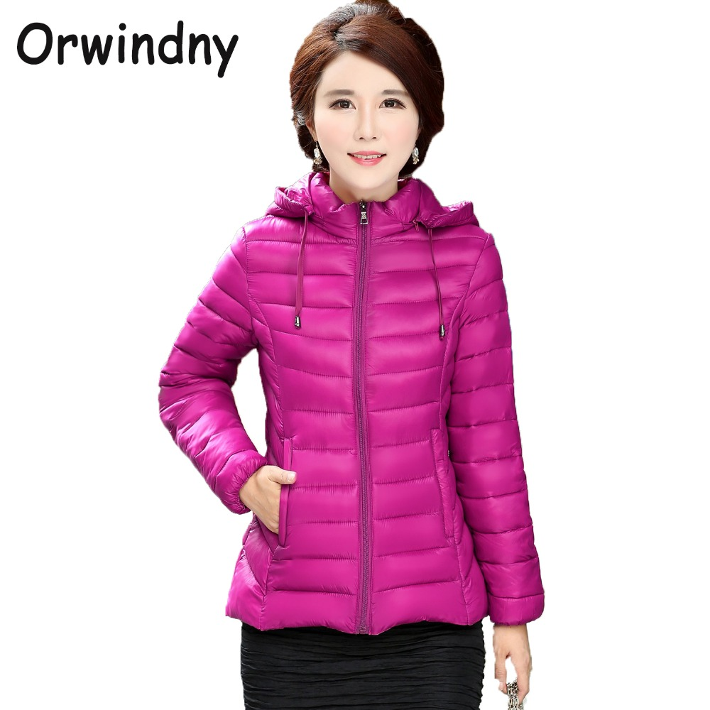 Orwindny Women Clothing Spring Jacket   Parkas   Female Thin Ultra Light Short Jackets Solid Zipper Coats With A Hooded Plus Size