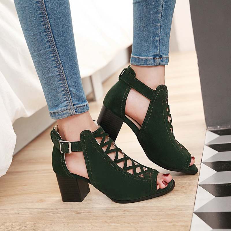 Women Sandals 2019 Casual Rome Summer Shoes Woman Fashion Hollow High Heels Open Toe Gladiator Sandals Plus Size Zapatos MujerWomen Sandals 2019 Casual Rome Summer Shoes Woman Fashion Hollow High Heels Open Toe Gladiator Sandals Plus Size Zapatos Mujer