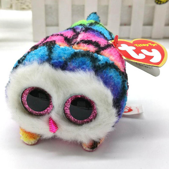 TY Beanie Boo teeny tys Plush – Icy the Seal 9cm Ty Beanie Boos Big Eyes Plush Toy Doll Purple Panda Baby Kids Gift Mini Toys