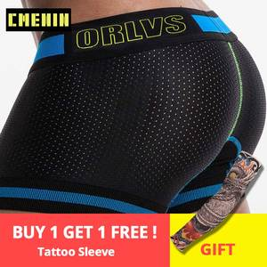 ORLVS underwear Mesh boxers panties Sexy mens shorts