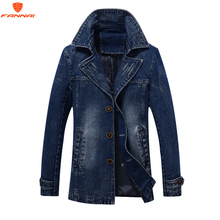2018 jaqueta masculina Retro Denim jacket men Spring Turn Down Collar jacket mens classic outwear jean jackets coat plus size