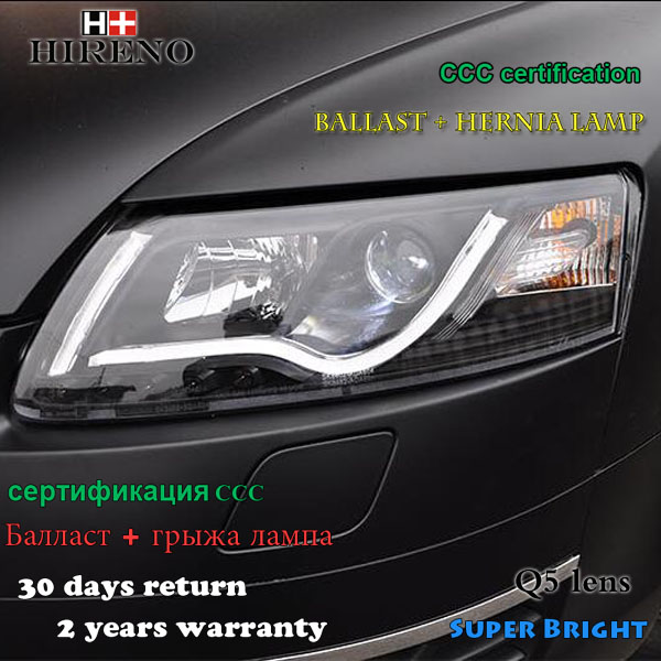 Hireno Headlamp for 2005-2012 Audi A6 C5 Headlights LED Headlight Assembly DRL Angel Lens Double Beam HID Xenon 2pcs hireno headlamp for 2013 2015 nissan tiida headlight assembly led drl angel lens double beam hid xenon 2pcs