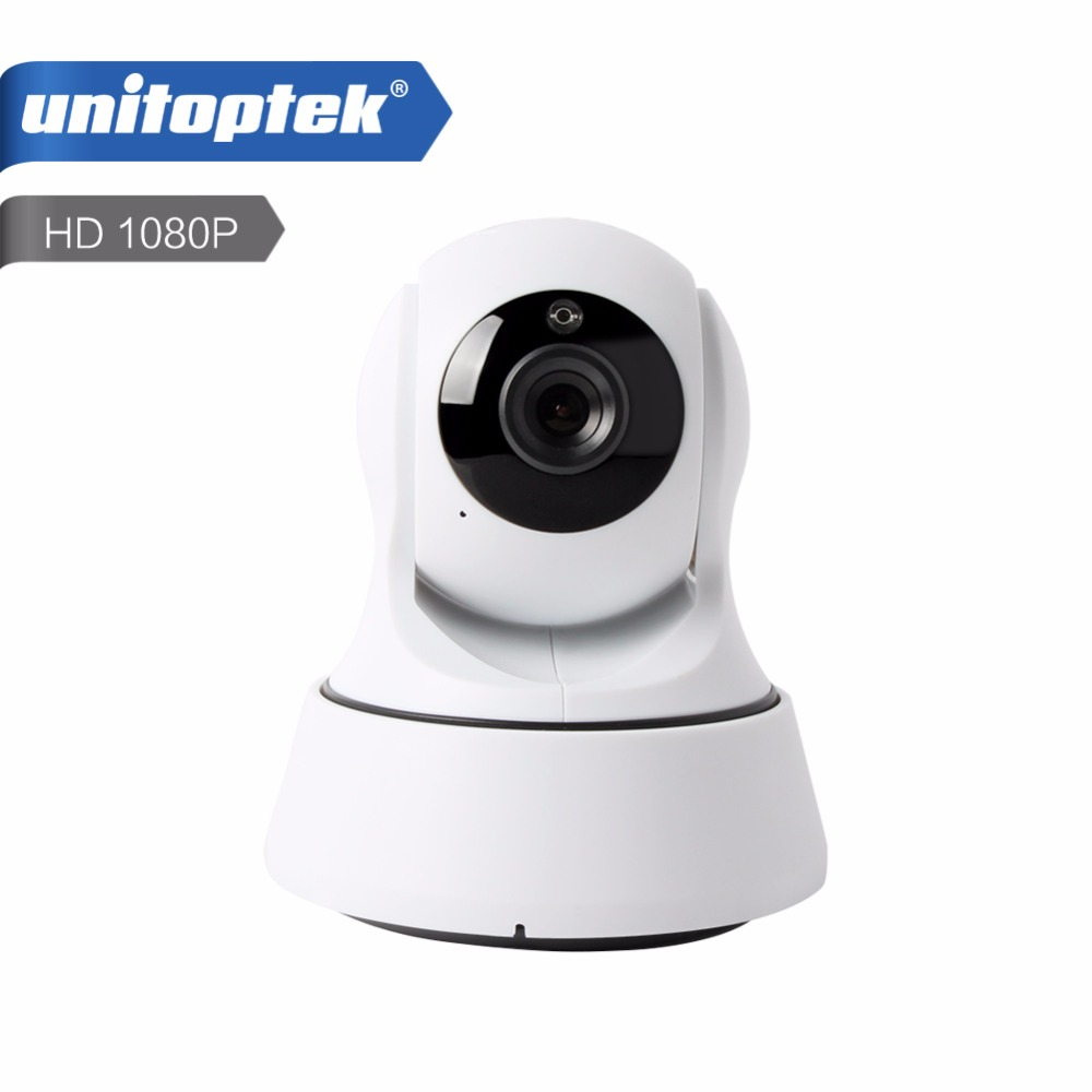 unitoptek mini wireless wifi ip camera 1080p ptz night vision hd 2mp smart camera two way audio. Black Bedroom Furniture Sets. Home Design Ideas