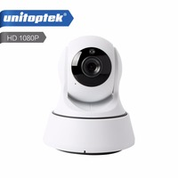 UNITOPTEK Wireless 2MP IP Camera WIFI PTZ Night Vision HD 1080P Smart Camera Two Way Audio