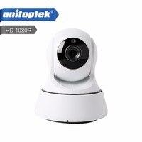 UNITOPTEK Wireless 2MP IP Camera WIFI PTZ Night Vision HD 1080P Smart Camera Two Way Audio