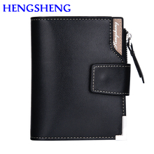 цена на Free shipping hot sale fold men wallet with high quality leather men wallet by three fold man wallet for card holder wallets
