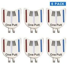 Упаковка из 6 шт один Putt дизайн отметка для мяча для гольфа плюс Магнитный Зажим для шляпы для гольфа Гольф-маркер Прямая поставка