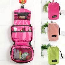 Foldable Waterproof Travel Storage Bags Portable Wall Mounted Hanging Cosmetic Bag Makeup Organizer Pouch Sundries Case(China)