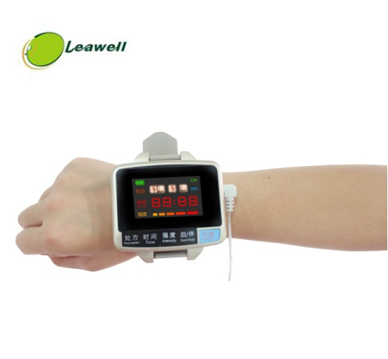 Leawell laser glucose monitor digital blood glucose watch for blood pressure reduce Soft Cold Laser therapy Phototherapy device laser light device reduce blood pressure wrist watch wrist type laser