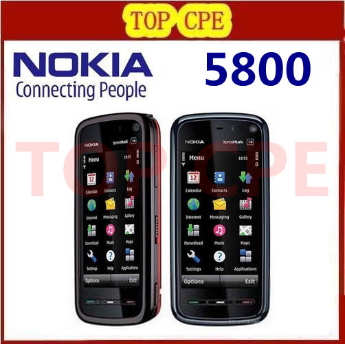 5800 mobile phone Original Nokia 5800 XpressMusic mobile phone 3 2MP Camera 3G A GPS WiF