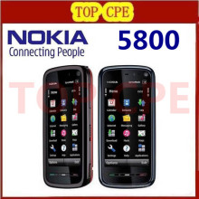 5800 mobile phone Original Nokia 5800 XpressMusic mobile phone 3.2MP Camera,3G,A-GPS,WiF Russian Polish Support Free shipping
