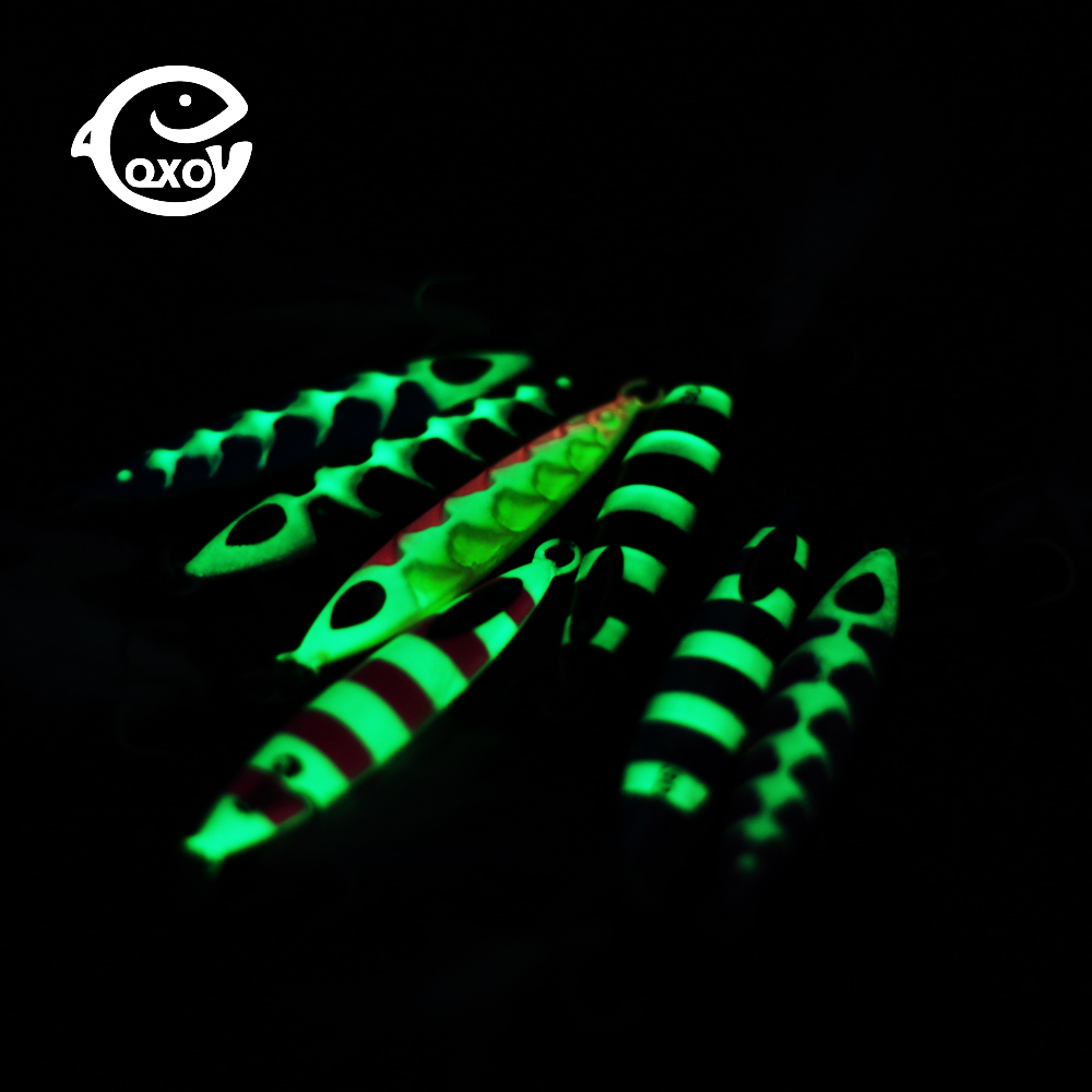 QXO Luminous Hard Lure Goods For Fishing Jig Metal Squid Wobbler Minnow Winter Sea Ice Fishing Lead Micro Duck Spinner Bait