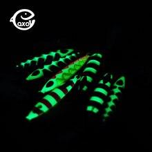 Qxo светящаяся жесткая приманка Товары для рыбалки джиг металлический