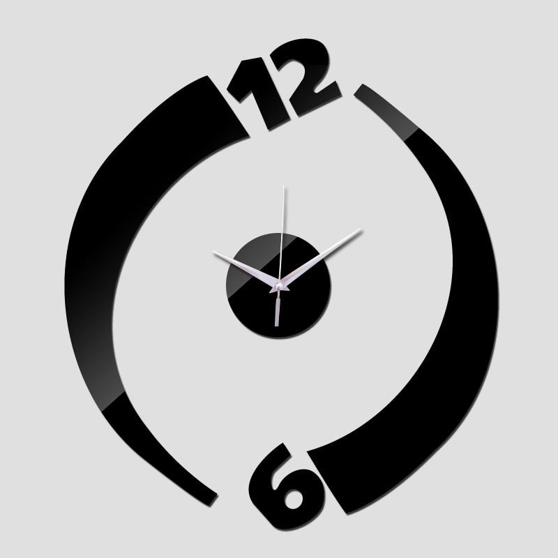 2015 nova chegada limitada acrílico relógios espelho relógio de parede para decoração moderna varanda / pátio frete grátis