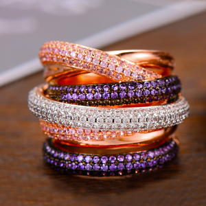 Image 3 - GODKI Monaco Design Luxury Statement Stackable Ring For Women Wedding Cubic Zircon Engagement Dubai Punk Bridal Top Finger Rings