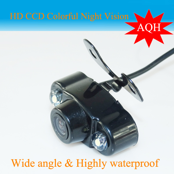 Free Shipping 2 LED Night Vision Backup Rear View Camera Factory Promotion Hot Selling