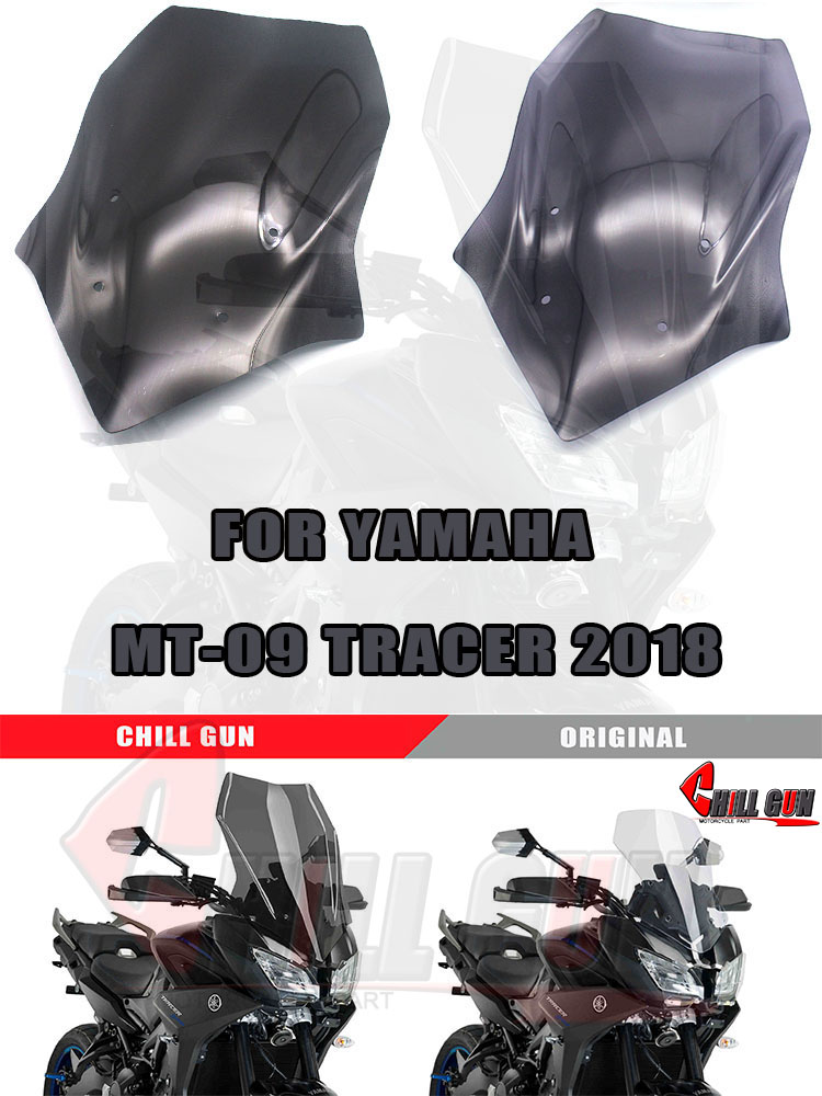SODIAL Motorcycle Carbon Fiber Windscreen Wind Deflector Windshield Side Panel Cover For Yamaha Mt10 Mt 10 Mt-10 2016 2017 2018