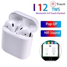 New Tws I12 Bluetooth Earphones Earbuds Hifi Wireless Ture Touch Contral Earphone Pk I200 I80 I30 Pop-up W1 Replica 1:1 Headset(China)