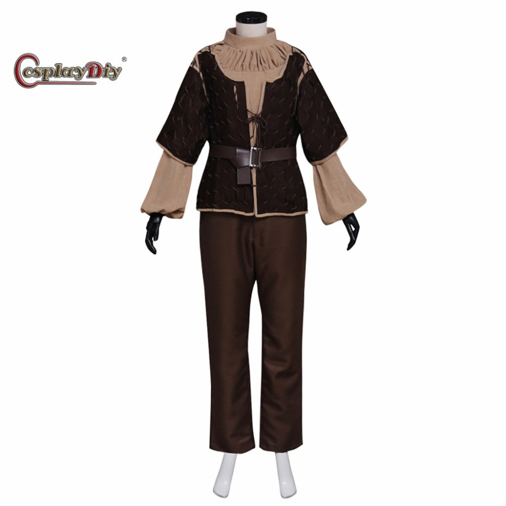 Cosplaydiy Game of Thrones Arya Stark Cosplay Costume Adult Women Girls Carnival Halloween Cosplay Outfit Custom Made