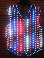 LED luminous waistcoat for performance/carnival/stage performance/light up Vest/colourful gilet/led vest suits/LED SUIT