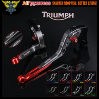 Red Titanium 8 Colors Adjustable Folding Extendable Motorcycle Brake Clutch Levers For Triumph SPEED TRIPLE 2004