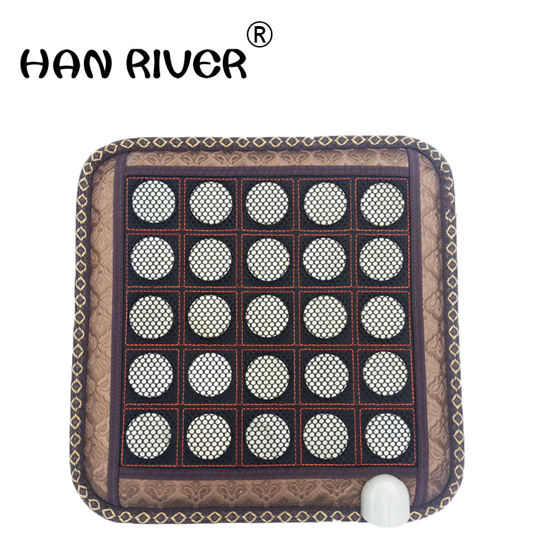 45 * 45 cm jade electric heating cushion of the sofa cushion germanium stone care office ms tomalin boss chair cushion45 * 45 cm jade electric heating cushion of the sofa cushion germanium stone care office ms tomalin boss chair cushion