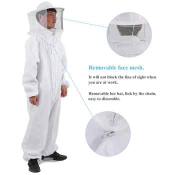 Cotton Full Body Beekeeping Clothing Hat Clothes Jaket Protective beekeeping suit beekeepers bee suit equipment