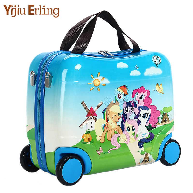子供のトロリー荷物スーツケースホイール子供の乗車のためにスーツケースローリングスーツケース搭乗引っ張るケース女の子のため