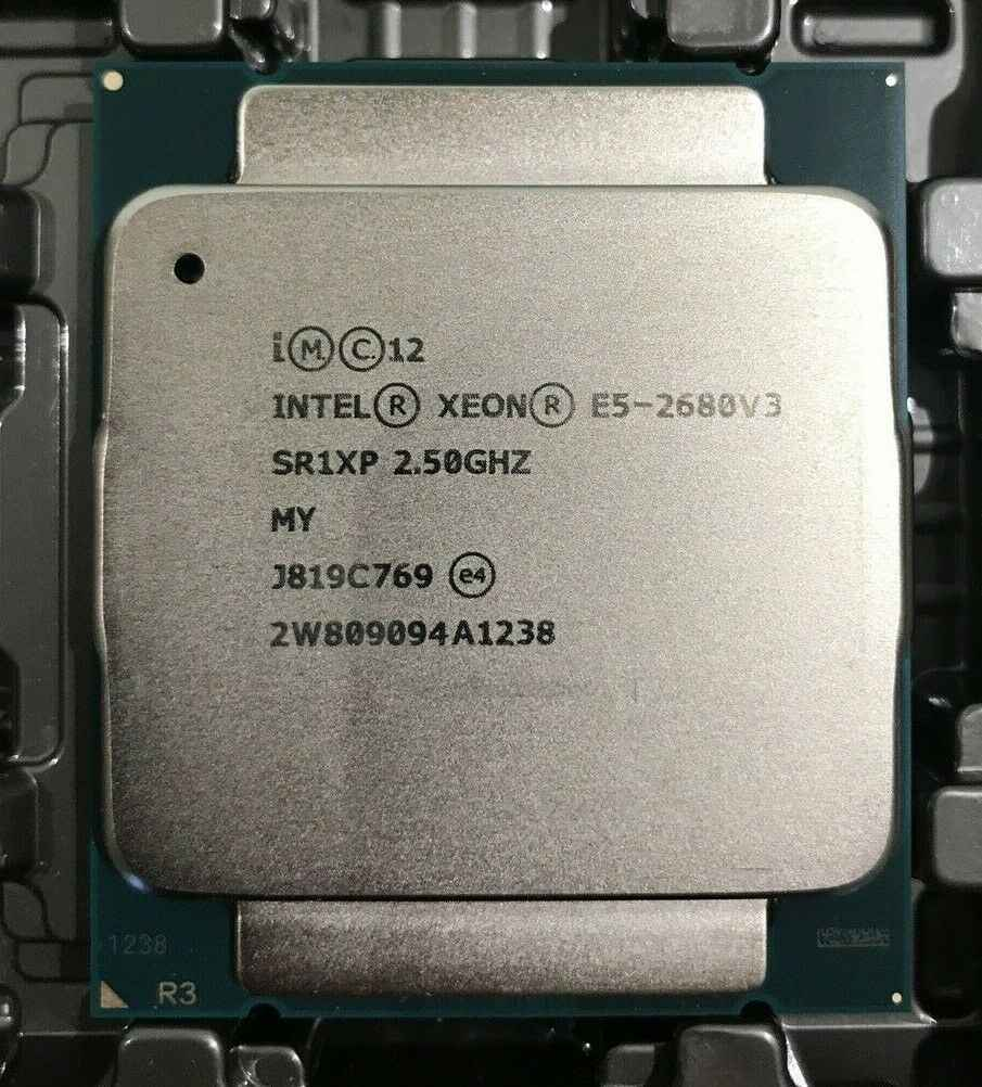 Intel E5-2680 V3 Processor SR1XP 2.5Ghz 12 Core 30MB Socket LGA 2011-3 Xeon CPU E5 2680 V3