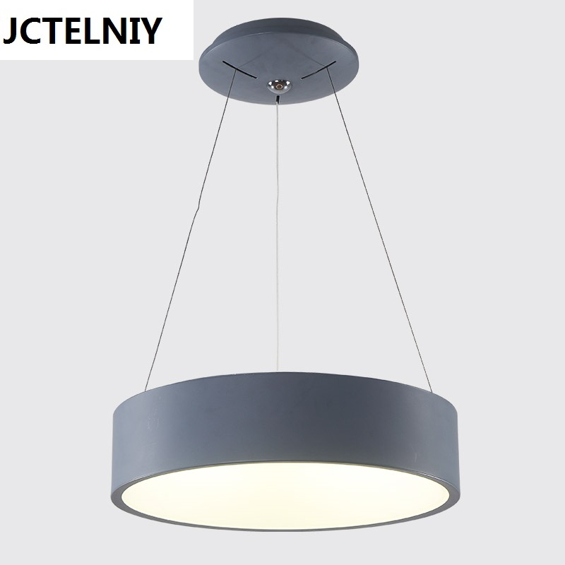 Hollow circle brief pendant light dark grey acrylic bar counter led pendant light