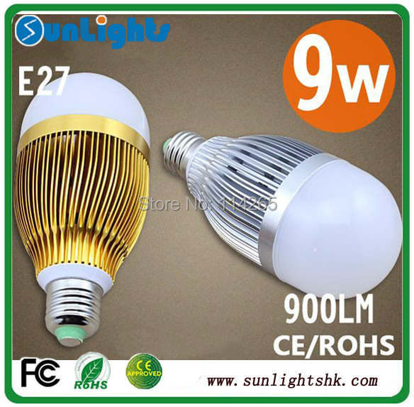 Dimmable 9w 7w 5w 4w 3W  E27 E14 B22 base type warm / cold white LED bubble ball lamp lights bulb CE free shipping