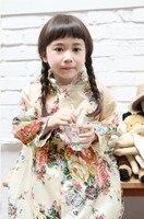 Peony Flower Kids Raincoat Rain Gear Jacket Princess Rain Coat For Children Fashion Girls Poncho