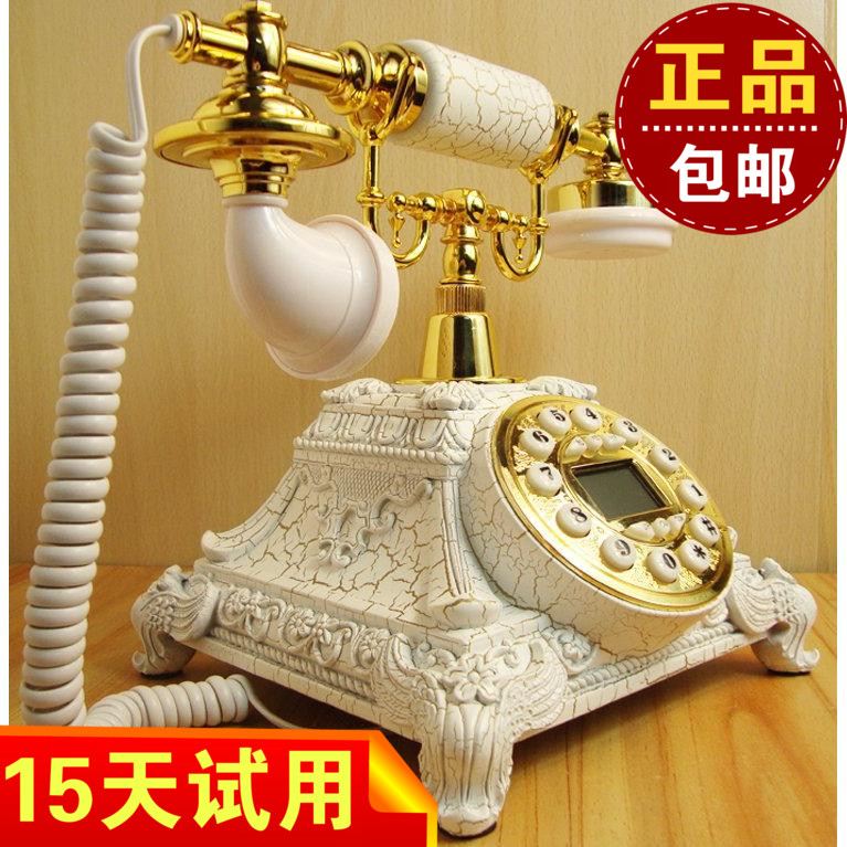 European pastoral antique office retro wireless card machine telephone Dial number Decoration home Rotate tones