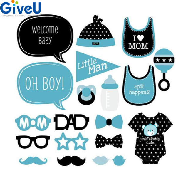 Perfect GiveU 20pcs/lot Babyshower Boy Girl Photo Booth Props Event U0026 Party  Children Photo Booth
