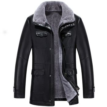 8728 New Men Winter Clothing Sheepskin Genuine Leather Coat Man Winter Lamb Fur Coat Leather Jacket