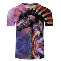 Horse&Cow&Native&Wolf With Music 3D Men T Shirt ShortSleeve Tshirt 3D Print T-shirt Summer Vintage Loose Tops Thin Tees Dropship 2