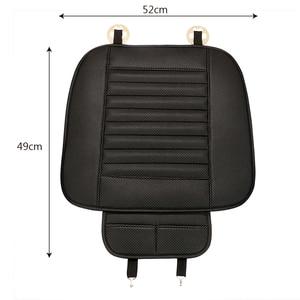 Image 5 - Car Seat Covers  Automobiles Seat Cushion Anti Slip Car Interior Accessories Four Seasons PU Leather Seat Protection Decoratio