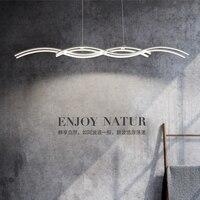 Wave Shape Modern Led Pendant Lights For Dining Living Kitchen Room White Aluminum Pendant Lamp Lamparas