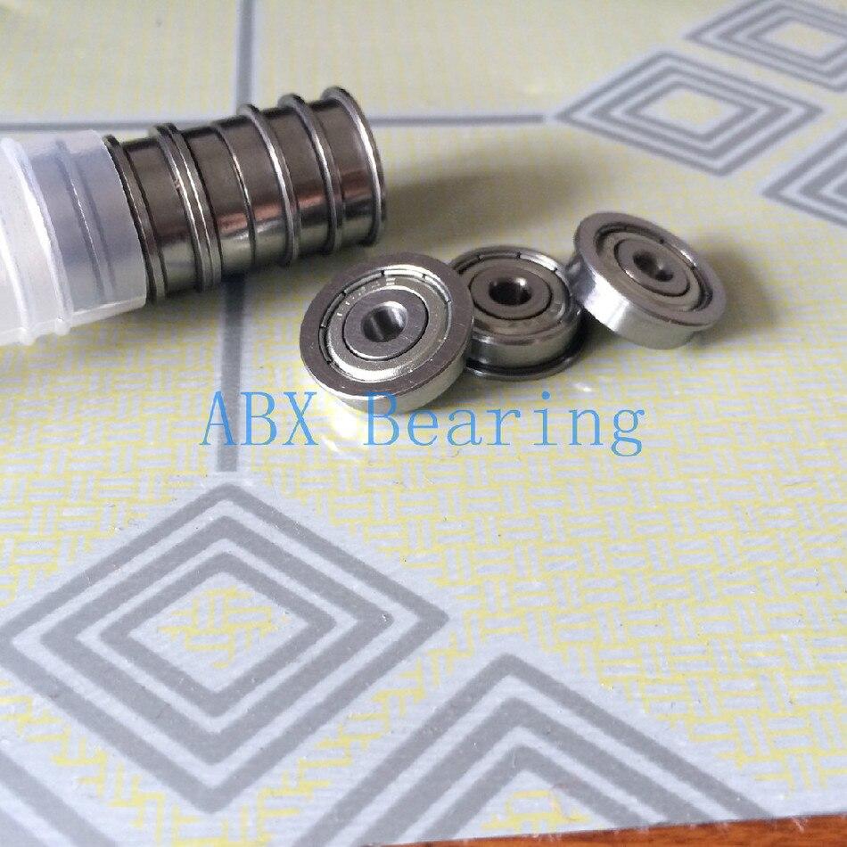 Free Shipping 10 PCS FR133ZZ FR133 SFR133ZZ Flange Bearings 3/32 X 3/16 X 3/32 Inch Flanged Ball Bearings RIF-3332ZZ ABEC5